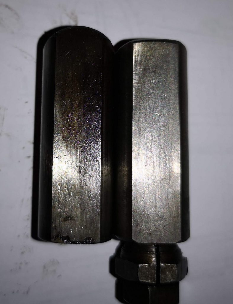 Standard Cam Follower (left) and Modified Cam Follower (right)